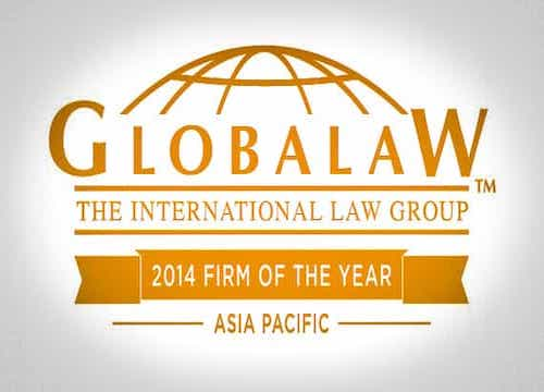 Globalaw 2014 Firm of the Year Asia Pacific