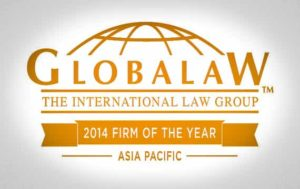 Globalaw Regional firm of the year 2014 Asia Pacific